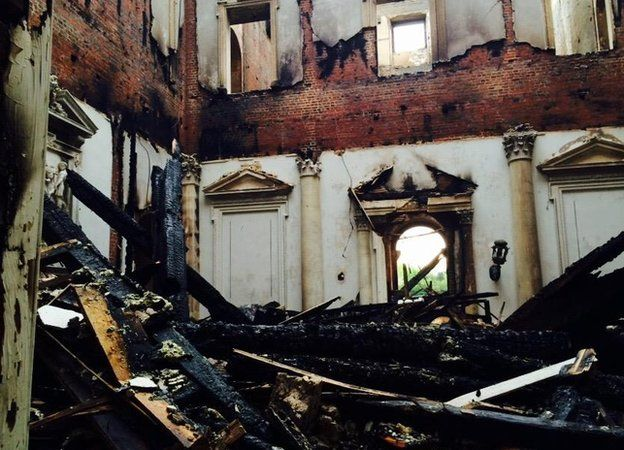 marble hall clandon after fire